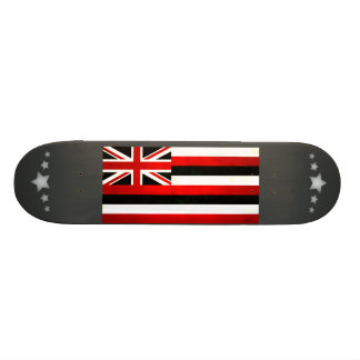 Modern Edgy Hawaiian Flag Skate Board
