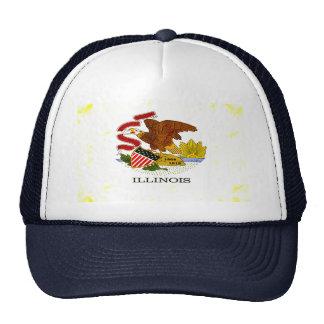 Modern Edgy Illinoisan Flag Trucker Hats