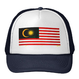 Modern Edgy Malaysian Flag Hats
