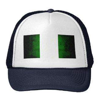 Modern Edgy Nigerian Flag Trucker Hats
