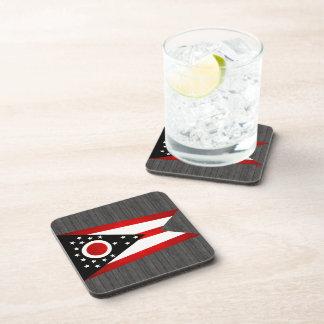 Modern Edgy Ohioan Flag Coaster