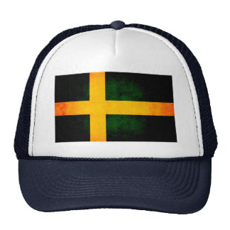 Modern Edgy Swedish Flag Mesh Hats