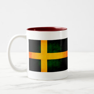 Modern Edgy Swedish Flag Mugs