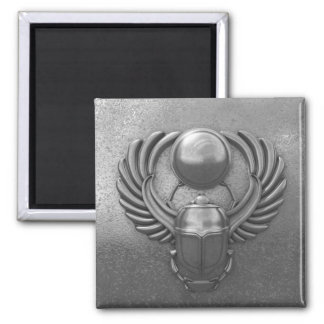 Modern Egyptian Scarab Square Magnet