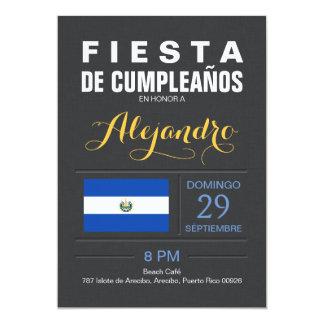 Modern: El Salvador Party 13 Cm X 18 Cm Invitation Card