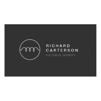MODERN ELECTRICIAN LOGO on DK GRAY II Pack Of Standard Business Cards