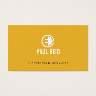 Modern Electrician Logo Yellow