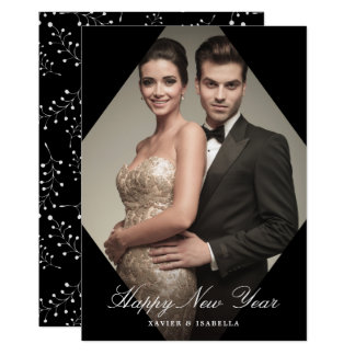 Modern Elegance New Year Photo Holiday Card