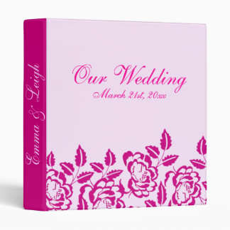 Modern Elegance Pink Rose Wedding Binder