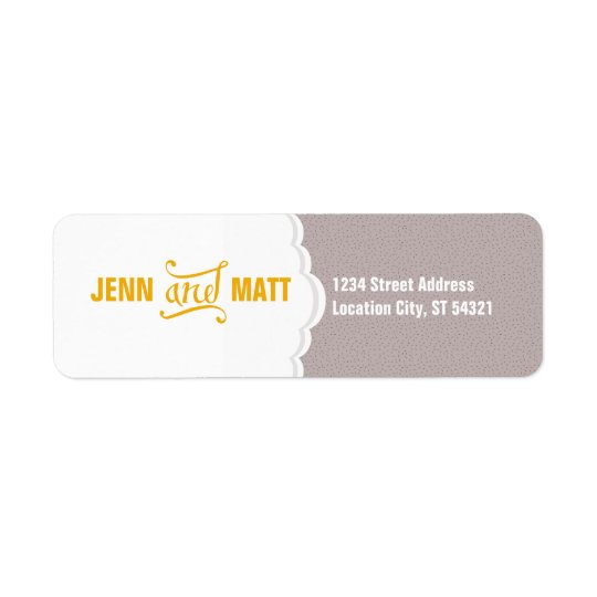 Modern Elegance Return Address Label