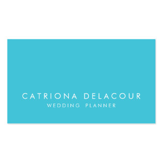 Modern Elegance Turquoise Business Card