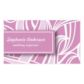 Modern elegant abstract curve shapes business card templates
