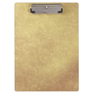 Modern Elegant Abstract Gold Clipboard