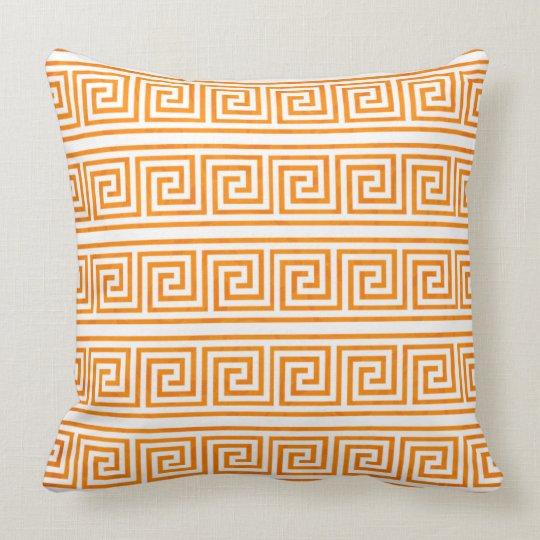 Modern Elegant and Classic Greek Key Pattern Throw Pillow