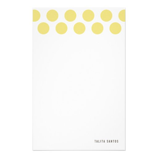 Modern Elegant Beige Sand Dots Personalized Customized Stationery