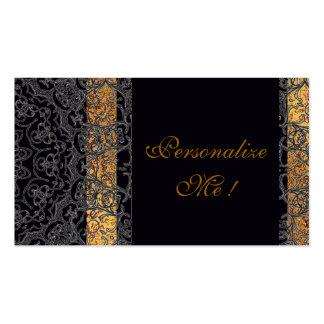 Modern Elegant Black/Gold Trendy Wedding Stylish Pack Of Standard Business Cards