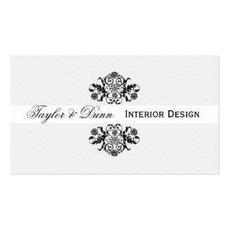 Modern | Elegant  Black White Ornamental Logo Pack Of Standard Business Cards