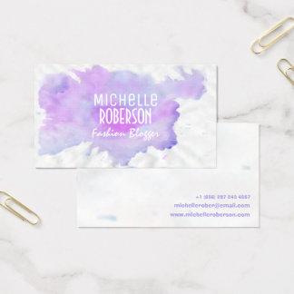 Modern elegant blackboard floral business card