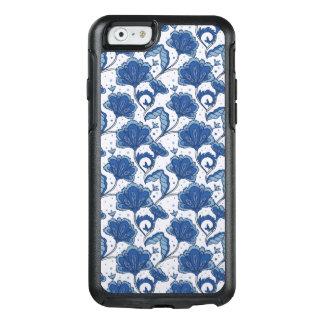 Modern Elegant blue batik pattern OtterBox iPhone 6/6s Case