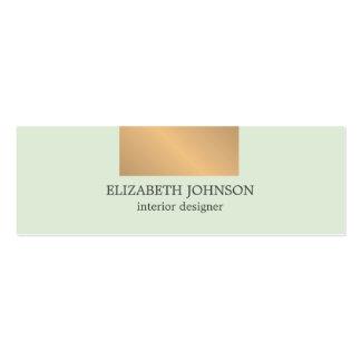 Modern Elegant Blue Faux Gold Interior Designer Pack Of Skinny Business Cards