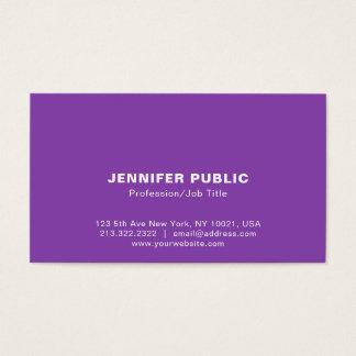 Modern Elegant Blue Violet Simple Design Business Card