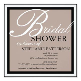 Modern & Elegant Bridal Shower in Beige Invitation