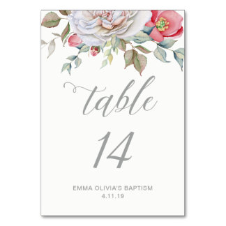 Modern Elegant Calligraphy | Delicate Floral Card