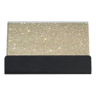 Modern Elegant Chic  Glittery Desk Business Card Holder