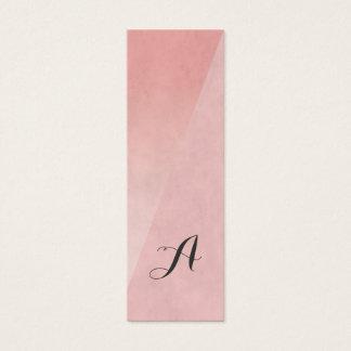 Modern Elegant Chic Pink Monogram BeautyConsultant Mini Business Card