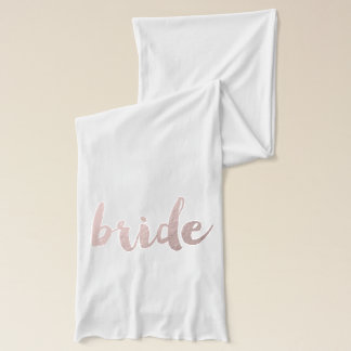 "modern elegant clear faux rose gold ""bride"" scarf"