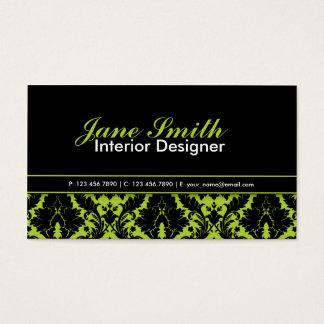 Modern Elegant Damask Floral Professional Stylish Business Card