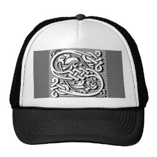 modern elegant fancy letter S monogram Mesh Hats