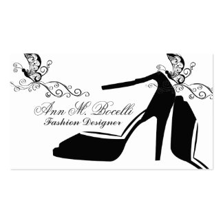 Modern Elegant Fashion Butterfly Chic Shoe Couture Pack Of Standard Business Cards