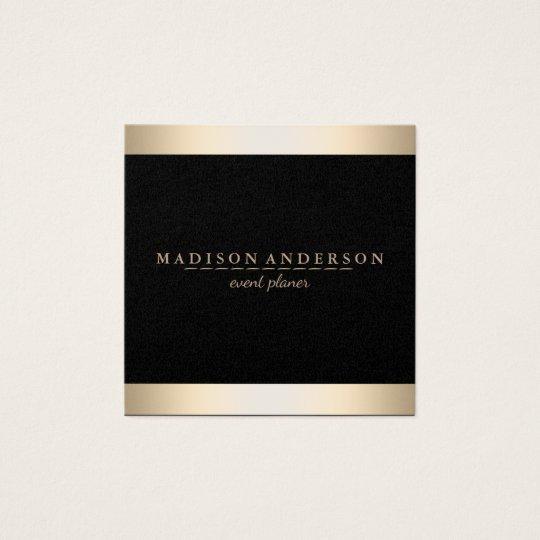 Modern Elegant Faux Gold Foil Striped Square Business Card