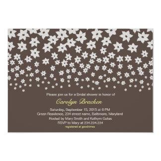 "Modern Elegant Flowers Bridal Shower Invite 5"" X 7"" Invitation Card"