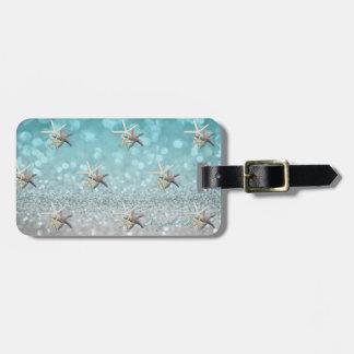 Modern Elegant Girly,  Glittery,Bokeh ,Starfish Luggage Tag