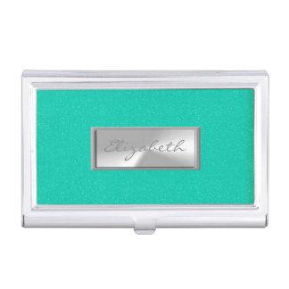 Modern Elegant  Girly , Glittery Business Card Holder