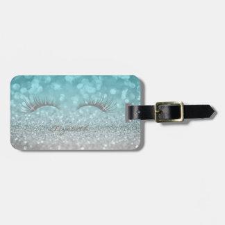 Modern Elegant Girly,  Glittery,Lashes Luggage Tag