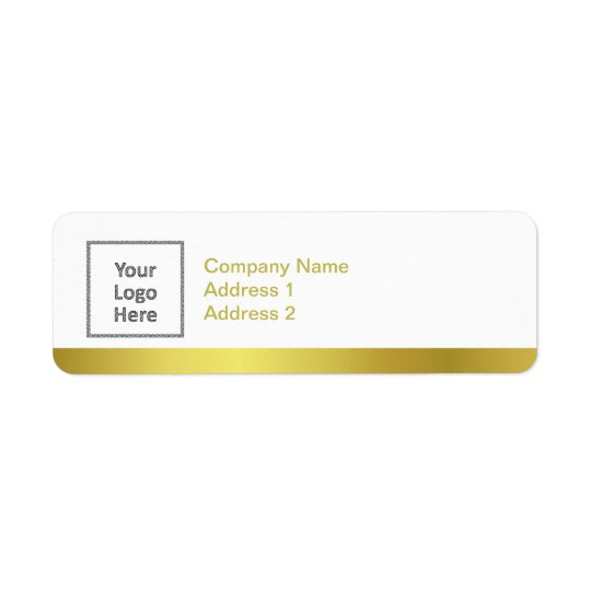 Modern Elegant Gold Foil Custom Business Logo Return Address Label
