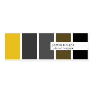 Modern Elegant Gold Grey Black Interior Designer Pack Of Skinny Business Cards