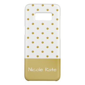 Modern Elegant Gold Polka Dots Case-Mate Samsung Galaxy S8 Case