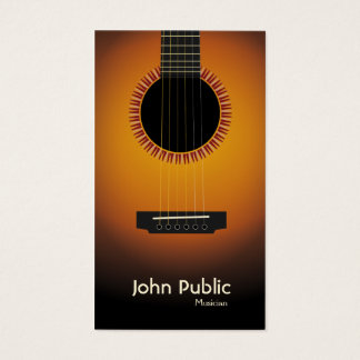 Modern Elegant Guitar Musician Business Card