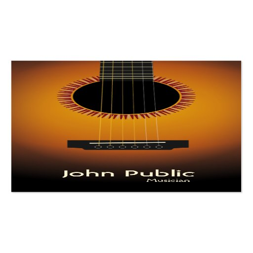 Modern Elegant Guitar Musician Business Card