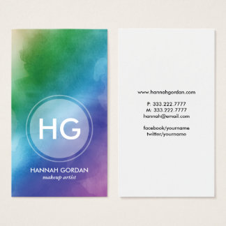 Modern Elegant Makeup Artist Beauty Overlay Business Card