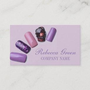 Nail manicure business cards zazzle au modern elegant manicure nails nail salon business card colourmoves