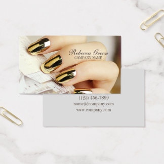 modern elegant manicure nails nail salon business card