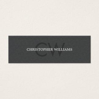 Modern Elegant Masculine Texture Grey Consultant Mini Business Card