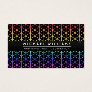 MODERN ELEGANT MINIMALIST RAINBOW DECORATOR BUSINESS CARD