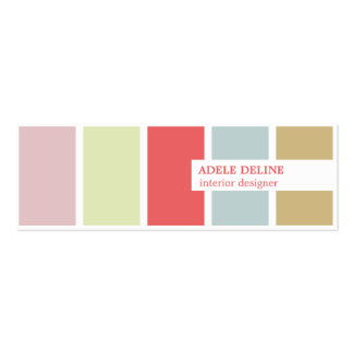 Modern Elegant Pastel Stripes Interior Designer Pack Of Skinny Business Cards