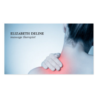 Modern Elegant Photo Massage Therapist Pack Of Standard Business Cards